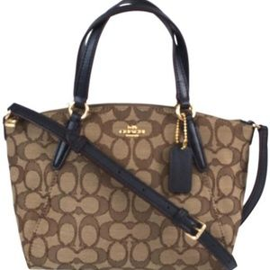 Coach Mini Kelsey Satchel Jacquard Cross body